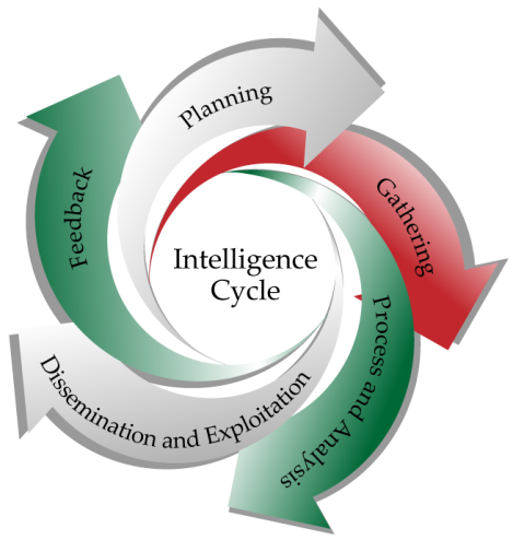 the intelligence cycle The us intelligence cycle is made up of five stages by the end of the fourth stage, a viable report is developed, and at the final stage, information is distributed.